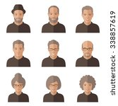 vector old people face. cartoon ...