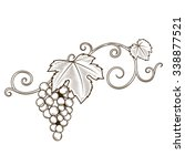grape vine branches ornament... | Shutterstock .eps vector #338877521