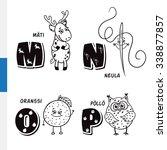 finnish alphabet. roe  needle ... | Shutterstock . vector #338877857