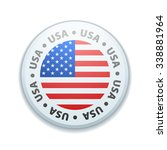 usa button | Shutterstock .eps vector #338881964