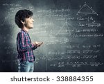 funny bigheaded student with... | Shutterstock . vector #338884355