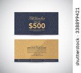 gift voucher template   Shutterstock .eps vector #338899421
