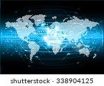 dark blue color light abstract...   Shutterstock .eps vector #338904125