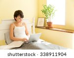 attractive asian woman in the... | Shutterstock . vector #338911904