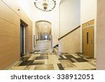 hotel lobby interior with... | Shutterstock . vector #338912051