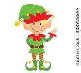 christmas elf vector... | Shutterstock .eps vector #338928899