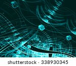 abstract digitally generated... | Shutterstock . vector #338930345