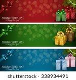 set of winter christmas banners ... | Shutterstock .eps vector #338934491