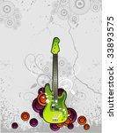 guitar vector illustration | Shutterstock .eps vector #33893575