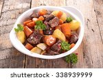 beef stew with carrot and potato | Shutterstock . vector #338939999