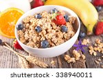 cereal with berry fruit | Shutterstock . vector #338940011