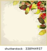 greeting card with autumn...   Shutterstock . vector #338944937