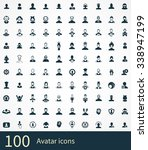 avatar 100 icons universal set...   Shutterstock . vector #338947199