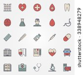 medical icons   vector colorful ... | Shutterstock .eps vector #338948279