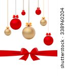 vector of christmas balls and...   Shutterstock .eps vector #338960204