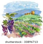 Art  Vineyard  Landscape ...