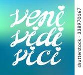 veni vidi vici   inspirational... | Shutterstock .eps vector #338970167