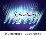 merry christmas in the form of... | Shutterstock .eps vector #338970959