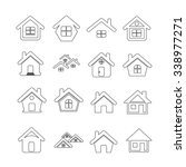 house icon real estate set for... | Shutterstock .eps vector #338977271