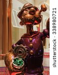Small photo of LAS VEGAS - Oct 30 2015 The Jeff Koons Popeye Sculpture display at the Wynn Hotel in Las Vegas