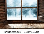 Wooden Window Sill And Winter...