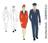 set characters of aviation... | Shutterstock .eps vector #338985311