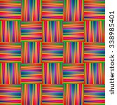 rainbow background with lines... | Shutterstock .eps vector #338985401