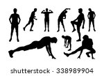 man sports exercising... | Shutterstock .eps vector #338989904