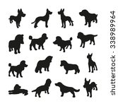 dogs silhouettes | Shutterstock .eps vector #338989964