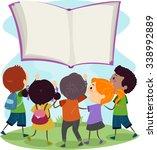 stickman illustration of kids... | Shutterstock .eps vector #338992889