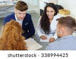 businesswoman in a team meeting ... | Shutterstock . vector #338994425