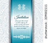 vector vintage invitation card... | Shutterstock .eps vector #339002111