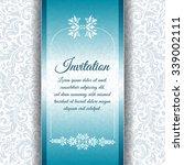vector vintage invitation card... | Shutterstock .eps vector #339002111