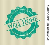 well done rubber stamp   Shutterstock .eps vector #339008849