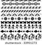 vector borders for any taste ... | Shutterstock .eps vector #33901273