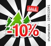 10  sale  discount  new year ... | Shutterstock .eps vector #339013391