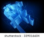 abstract technology background. ... | Shutterstock .eps vector #339016604