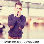 tired man on white | Shutterstock . vector #339020885