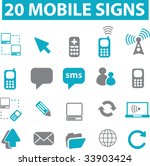 20 mobile signs. vector