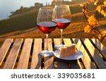 wine and cheese against geneva... | Shutterstock . vector #339035681