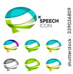 set of abstract speech bubble... | Shutterstock .eps vector #339036809