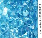 blue polygonal mosaic... | Shutterstock .eps vector #339050411