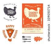 thanksgiving day invitation... | Shutterstock . vector #339050714