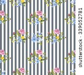 vector seamless floral pattern. ... | Shutterstock .eps vector #339052781