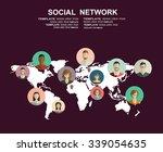 social network vector concept.... | Shutterstock .eps vector #339054635