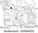 fairy tale about three little... | Shutterstock . vector #339064151