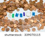 pension   word letters with a... | Shutterstock . vector #339070115