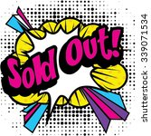 "pop art comics icon ""sold out "".... 