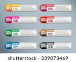 binders vector icon and... | Shutterstock .eps vector #339073469