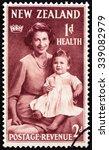new zealand   circa 1950  a... | Shutterstock . vector #339082979